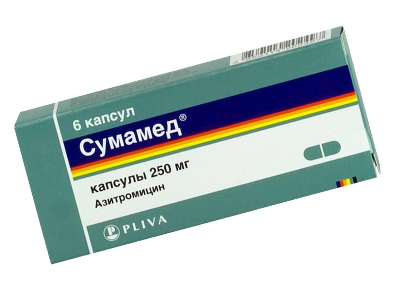 Применение препарата Сумамед при простатите